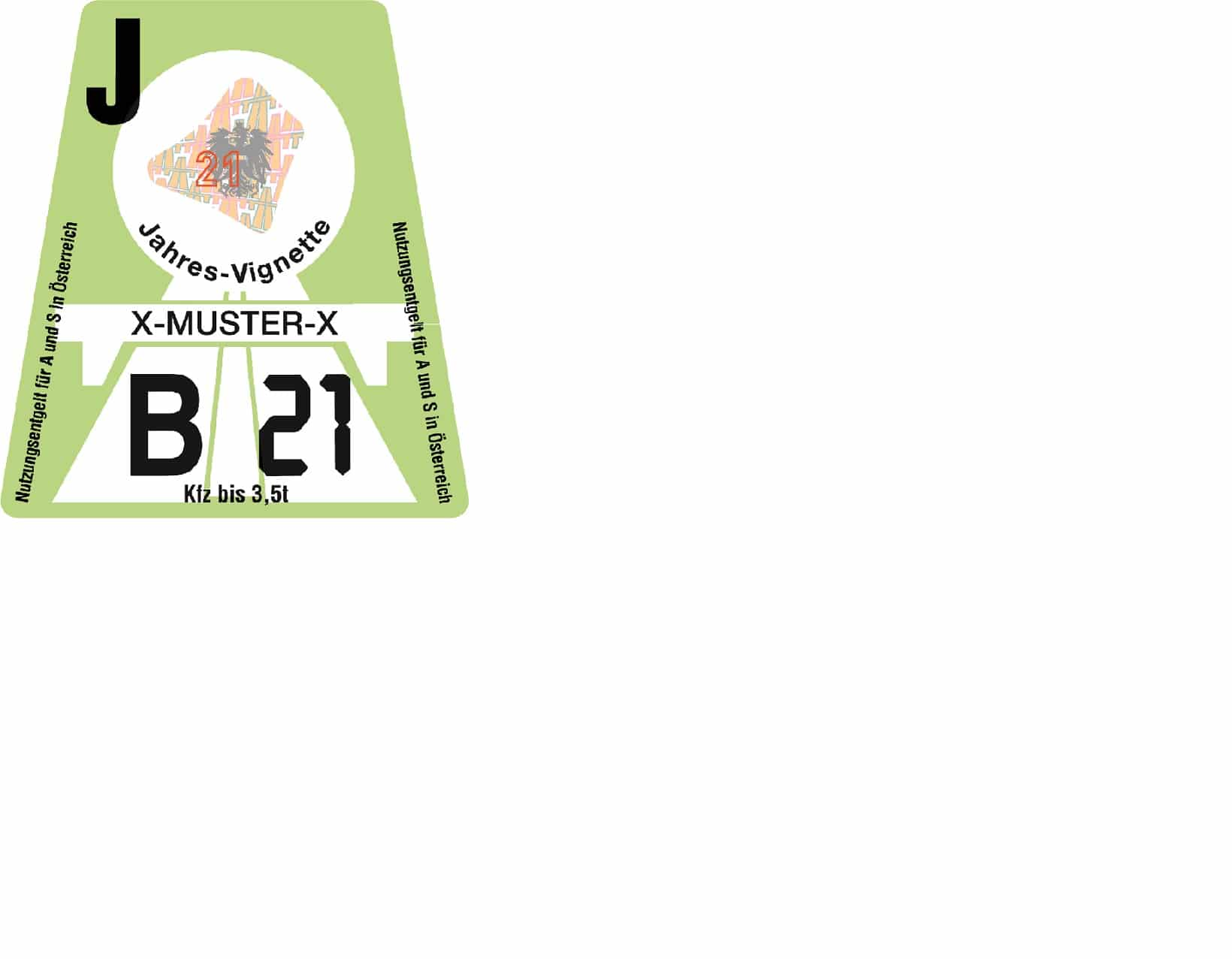 österreich Vignette 2021 Preis